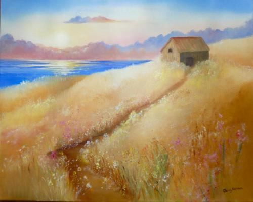 Caldey Island Barn by Jenny Norman