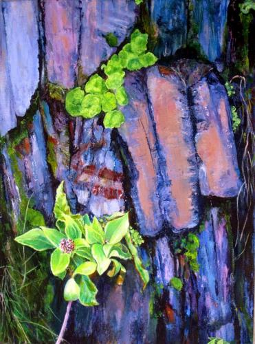 Slate Wall by Barbara Armstrong