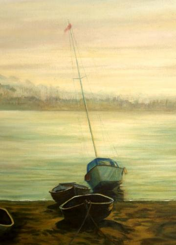 Teign Evening Mist by Barbara Armstrong